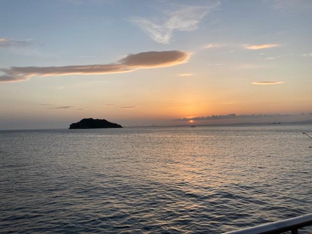 猿島の夜明け